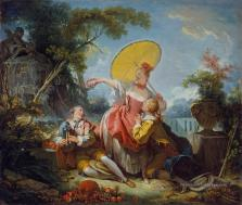 7-The-Musical-Contest-Rococo-hedonism-eroticism-Jean-Honore-Fragonard