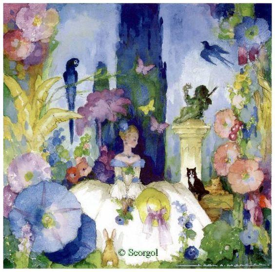 L'artiste Jean A. Mercier: Les aquarelles inoubliables des livres de monenfance.