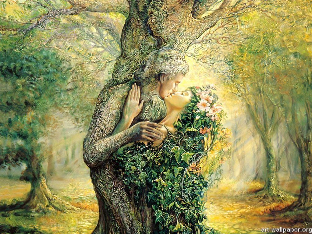 Avez-vous remarqué les visages cachés dans les arbres?
