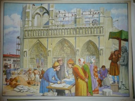 construction d'une cathédrale affiche